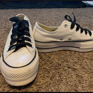 white converse black laces